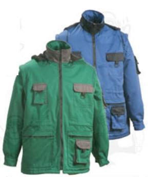 Coverguard munkaruha ZORÁN télikabát zöld vagy kék színben RBONW vagy RBZOW ***KIFUTÓ***