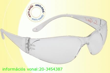 Lux optical munkavédelmi szemüveg Pokelux víztiszta védőszemüveg 60558-as kisebb méretű