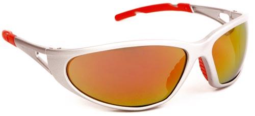 Lux optical Freelux piros tükrös lencse, nagy szilárdságú ezüst keret, piros szárvégekkel 62135-ös