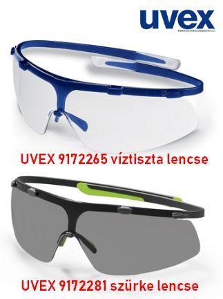 UVEX SUPER G SZEMÜVEG,KÉK KERET, VÍZTISZTA LENCSE munkavédelmi szemüveg víztiszta lencsével 100 % uv védelemmel U9172265