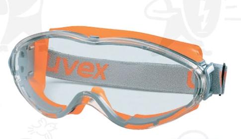 Uvex Ultrasonic gumipántos szemüveg, karc- és páramentes, vegyszerálló polikarbonát lencsével U9302245-ös