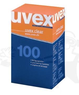 Uvex előnedvesített tisztító kendő minden lencséhez, 100 db U9963000-ás