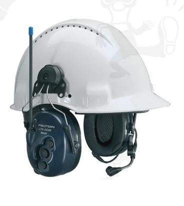 LITE-COM BASIC sisakra tehető aktív fültok beépített rádió adóvevővel és mikrofonnal 32283-as