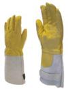Színbőr tűzoltókesztyű, hőálló aramidszálas közbélés és pamut belső  bélés 59880-as
