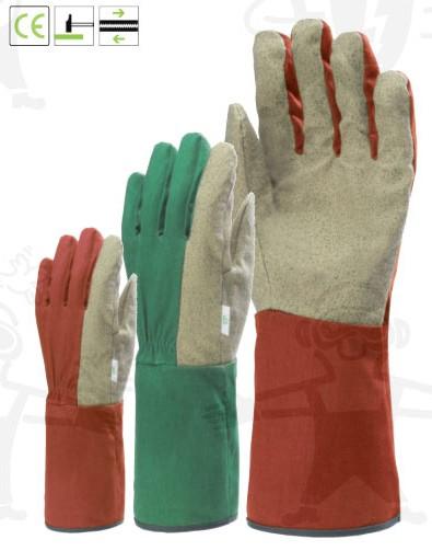 Vinyllel impregnált pamut tenyér, gumis pamut kézhát és 15 cm hosszú mandzsetta 132478-80-as