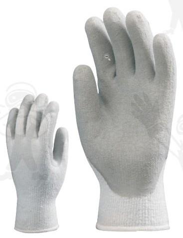 Szürke latex hideg elleni belső bolyhozással, pamut-akril-poliészterre mártva 3874-75-ös