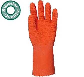 Narancs latex, saválló, vágásbiztos, csúszásgátló, erősített, 32cm 3817-20-as