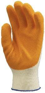 Kondenzált, vékony és erős, csúszásbiztos narancs latex, kötött, szellőző pamut háttal 3863-65-ös