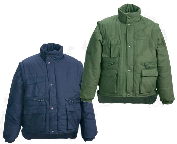Coverguard munkaruha POLENA SLEEVE zöld 5PSLV, kék 5PSLB színű lecippzározható ujjú kabát