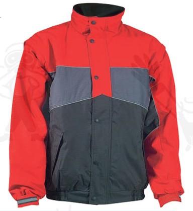 RIPSTOP piros/szürke/fekete pilóta dzseki, levehető ujjak, szakadásbiztos anyag  XBRIP