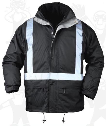 Coverguard munkaruha BODYGUARD II 4 AZ 1-BEN munkavédelmi kabát, fényvisszaverő csíkokkal XBODN