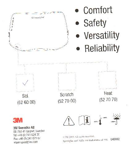 3M 526000 külső előtétüveg Speedglass 3M 9100-as pajzsokhoz  (3M_52 60 00)