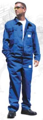 Savvédő derekas öltöny, 245 g/m²    65% poliészter, 35% pamut, királykék szín 74844-62-es