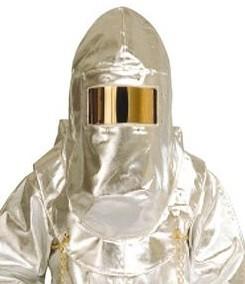 Alumínizált kámzsa, aramidszálas, arany látómezővel, hő- és lánghatás ellen (EN531, EN470) 59960-as