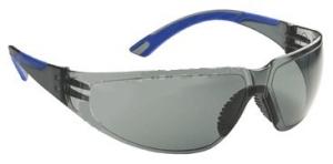 Lux Optical munkavédelmi szemüveg Starlux füstszínű keret és páramentes lencse, rugalmas kék szárvég 60567-es
