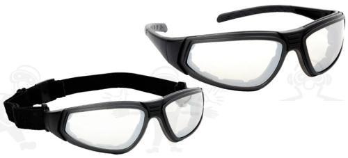 Lux optical Flylux  2/1 cserélhető pántos/száras szett, páramentes víztiszta lencse, szivacsos keret 60951-es