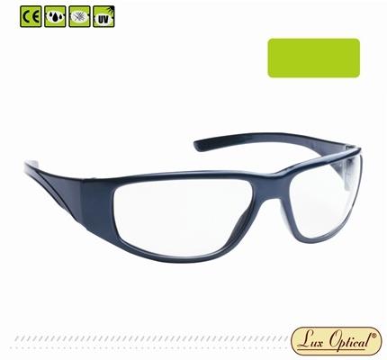 Lux Optical munkavédelmi szemüveg Fairlux masszív kék poliamid keret, erősített, karc- és páramentes színtelen lencse 62317-es