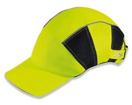 Uvex Bump-Cap hi-viz sárga, beütődés veszélye elleni fejvédő sapka, állítható, mosható belső U9794800
