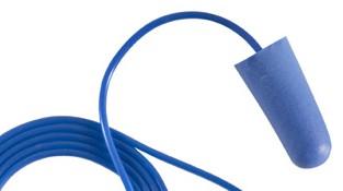 Earline kék, zsinóros, lekerekített hengeres füldugó beépített fémgolyóval (SNR 37dB) 30210-es