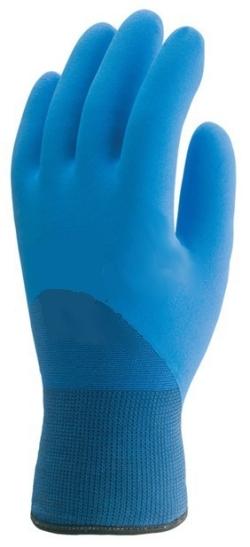 Euroice poliamid szerelőkesztyű, dupla kék nitril tenyér, hurkolt akril hőszigetelő belső  6628-31