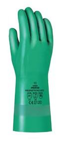 Uvex kesztyű Profastrong vegyszerálló zöld nitrilkesztyű, 0,38 mm vastag, 33 cm hosszú U60122