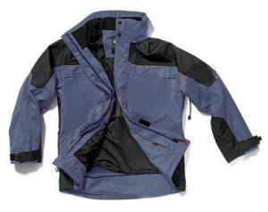Télikabát hagyományos fazon, fekete vízhatlan külső, selymes bélés, kapucni, 4 zseb OJ3755