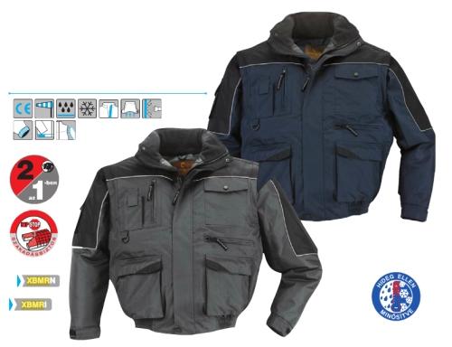 Coverguard munkaruha RIPSTOP SOKZSEBES DZSEKI szürke/fekete, vagy navy/fekete színekben XBMR