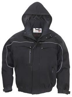 Coverguard munkaruha TAO dzseki fekete, lélegző, szél- és vízálló softshell anyag, körbefutó fényvisszaverő csík  XTABB ***KIFUTÓ***
