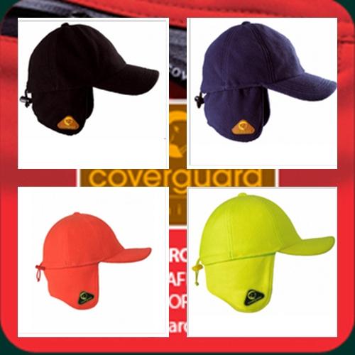 Covercap fluo téli baseball, lehajtható fülrész, 250g/m2 thermo-polár, sárga vagy narancs XCOVC-O/Y