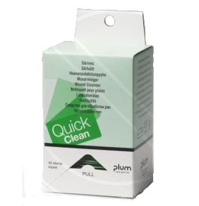 Plum Quick Clean 40 db nedves, steril sebtisztító kendő utántöltő, 13 x 20 cm/db  PL5551
