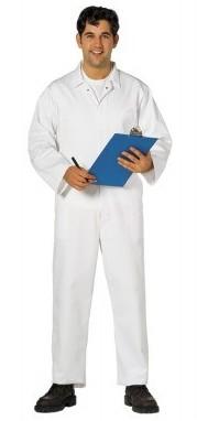 Portwest gasztro ruha, élelmiszeripari overall fehér színben, patentos kivitelben, kiváló ár/érték arányú modell. 2201