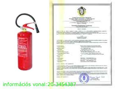 6 kg ABC porral oltó tűzoltó készülék