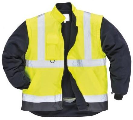 S768 Jól láthatósági  5az1-ben kabát