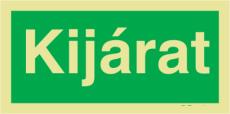 Kijárat utánvilágítós menekülési MJ005 útvonalat jelző öntapadós tábla