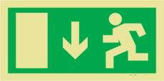 Menekülési útvonal utánvilágítós menekülési MJ001 útvonalat jelző öntapadós tábla