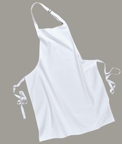 Portwest S840Y Partedlis kötény (melles kötény) fehér színben, mely klasszikus szabású, elegáns viselet.