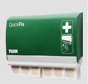 PL5502 Plum QuickFix zárható, utántölthet 245  ragtapasz adagoló 90 db rugalmas natúr textil tapasszal