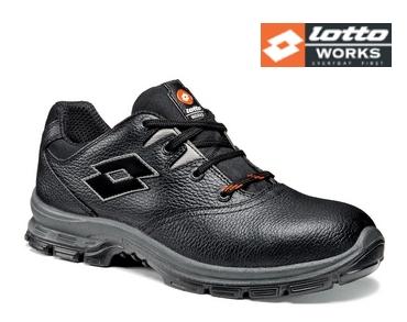 Lotto BLACK SPRINT 101 (S3) fekete bőr védőcipő acél orrmerevítővel és kompozit talppal OQ8363