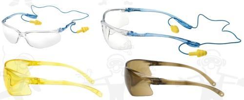 3M TORA 60120-as munkavédelmi szemüveg víztiszta, barna vagy sárga lencse, karc- és páramentes, zsináros füldugóval kombinálható