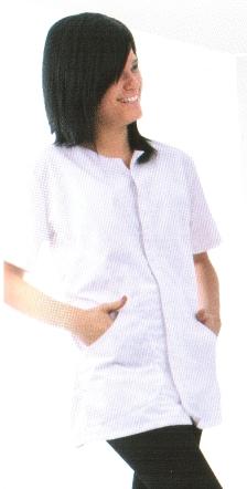 Coverguard munkaruha, gasztro ruha, Női köpeny (tunika) klasszikus hosszúujjú, galléros és egysoros gombolású fazon, két oldalzsebbel, 220 g/m2 100% pamut alapanyagból. 45880