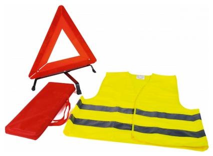 7WARY Közúti szett: jól láthatósági mellény, elakadásjelző háromszög, hordtáskában