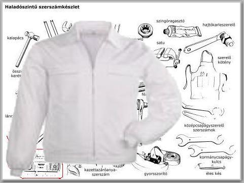 EP workwear munkaruha FACTORY fehér kabát RFAWV **KIFUTÓ TERMÉK**