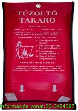 Tűzoltó takaró 1,8x1,8m TTK