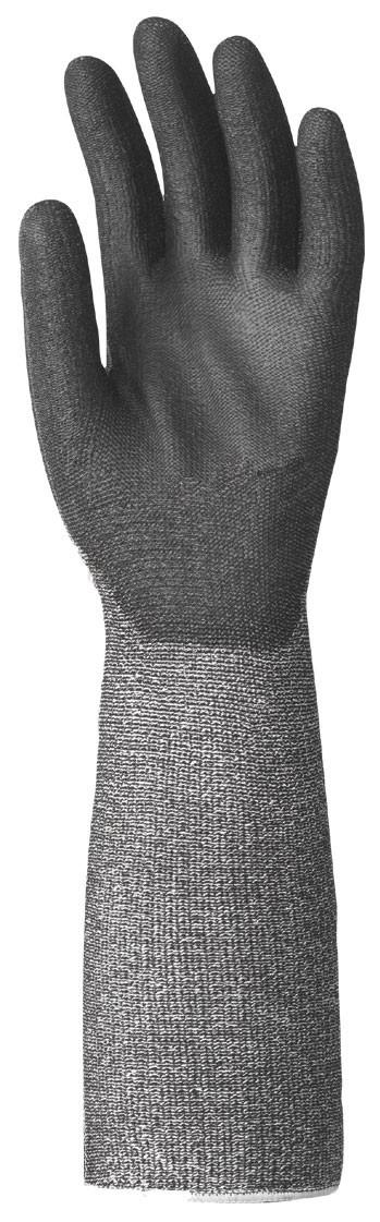 Coverguard EP works munkavédelmi hosszú szárú vágásbiztos védőkesztyű PU tenyérrel 6868-70