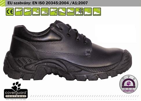 MOGANITE (S3 CK) (9MOGL41) fekete vízlepergető színbőr cipő és bakancs, kompozit, Cambrelle  betét