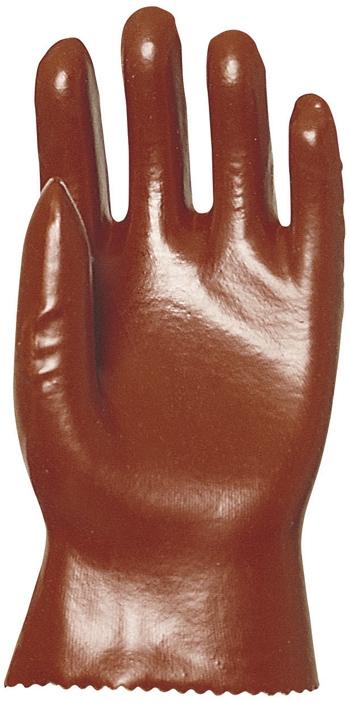 Pamutra mártott bordó PVC, vízálló védőkesztyű (3529-30)