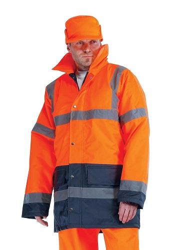SEFTON bélelt HiVis kabát narancs