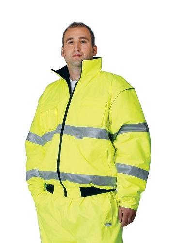 CLOVELLY 2in1 HiVis pilóta dzseki sárga