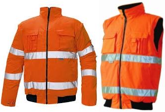 CLOVELLY 2in1 HiVis pilóta dzseki narancssárga c030100719000X