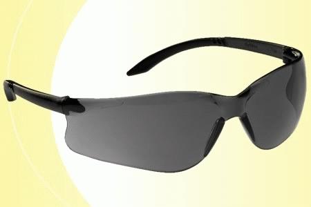 Lux Optical Softilux sötét lencsés munkavédelmi szemüveg, karc- és páramentes lencse, fekete, állítható szárral 60563-as